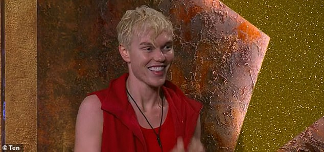 Staying silent: Jack Vidgen wasn't giving anything away during an interview with The Kyle & Jackie O Show on Monday