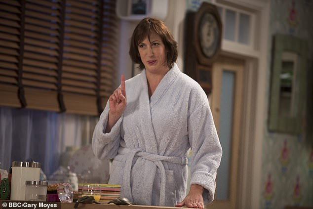 Leading comedian: Miranda is best known for her roles in her eponymous sitcom (pictured in 2014) and BBC's Call the Midwife