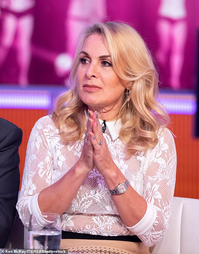 Isolating: Bucks Fizz star Jay Aston revealed on social media that she is currently bedridden with COVID-19