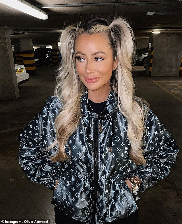 Smart: Olivia Attwood, who found fame on Love Island, had suggested that unimpressed fans unfollow the stars abroad after she lashed out at them last week (pictured in Manchester)