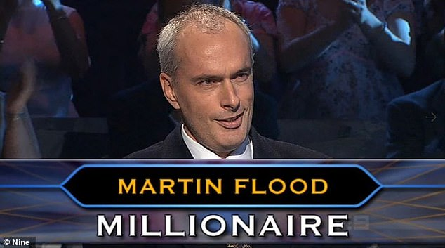 Supsicious: On Tuesday's The Kyle and Jackie O Show, the 56-year-old revealed his belief that 'absolutely something was wrong' when Martin Flood (pictured) became the second person to win a million on the show in 2005