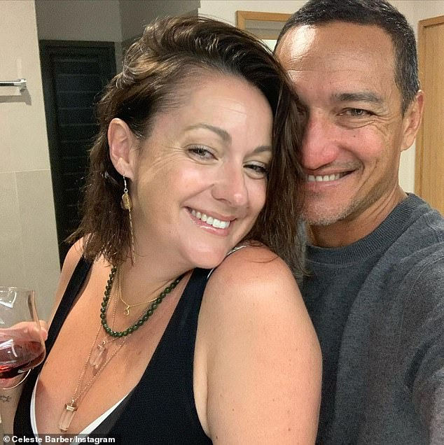 'You are the best out there': Comedian Celeste Barber shared a heartwarming tribute to her 'hot husband' Api Robin as they celebrated their eighth wedding anniversary on Monday