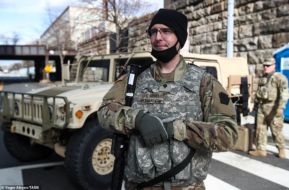 Around 25,000 National Guard troops have been deployed to Washington DC