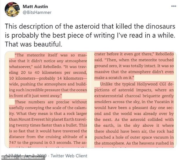 Although the book was published recently on Twitter in 2017 blogger Matt Austin, excerpts