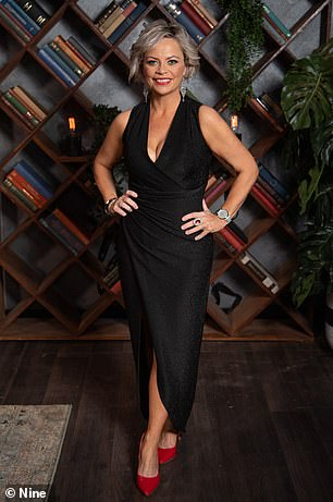 Impressive!  Jo 'Foxy Jojo' McPharlin, 42, looked almost unrecognisable as she showed off her impressive 40 kilo weight loss in a $59 a little black dress from Fashion Pop Boutique