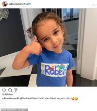 Rob Kardashian shares photo of his daughter Dream, four, wearing his late father's t-shirt