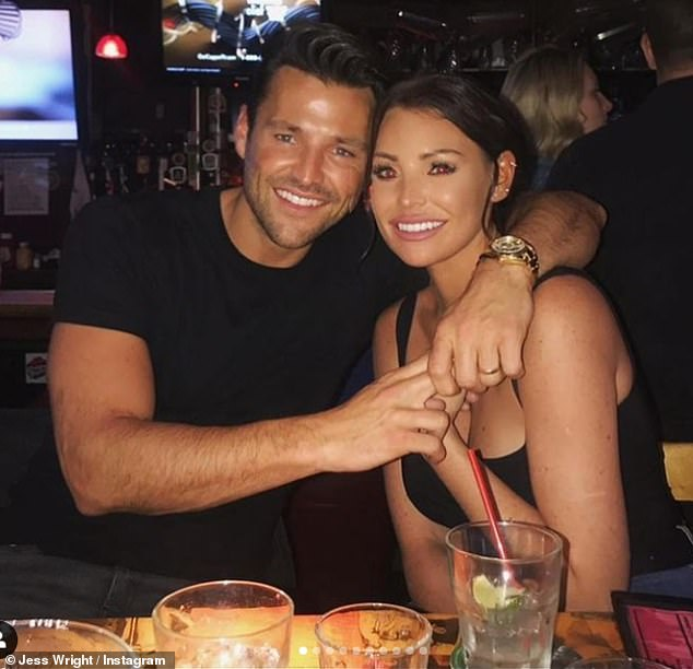 Family first:Jess Wright declared she is 'very proud' of her brother Mark as she posted a series of family snaps to acknowledge his 34th birthday on Wednesday