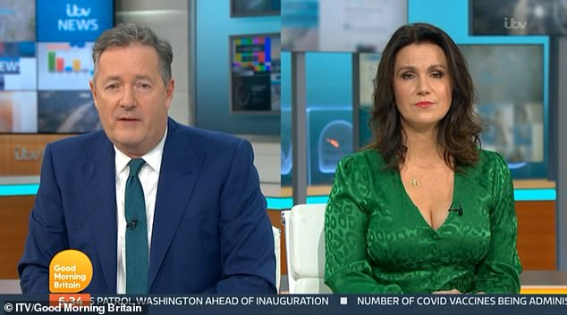 Interview:The group were first interviewed by Piers Morgan and Susanna Reid on Good Morning Britain on Monday to discuss the impact the meme has had