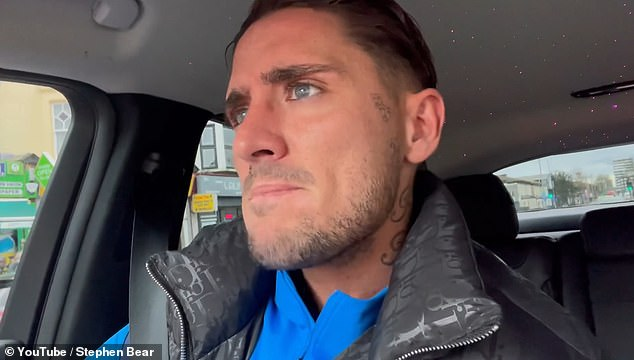 Stephen Bear reveals he's been charged with 'harassment, exposure and voyeurism '