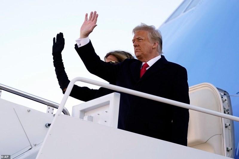 Donald Trump quitte la maison blanche