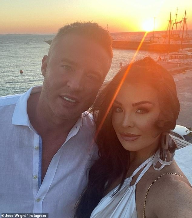 Married: The TOWIE star, 35, is engaged to partner William Lee-Kemp and fears her psoriasis may prevent the ceremony from being all she hopes