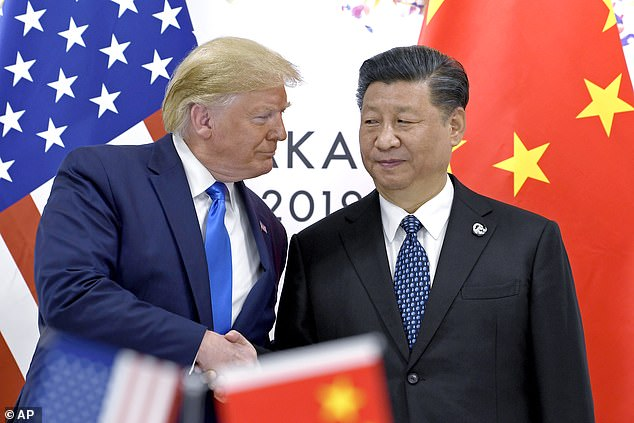 Donald Trump and China's leader, Xi Jinping, pictured in June 2019, had a tricky relationship