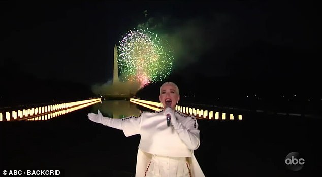 Wow!  Hitmaker Roar closed the star-studded show with a majestic rendition of his hit song Firework before the Washington Monument