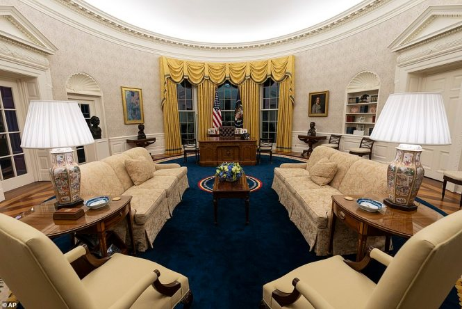 The bust was removed from the Oval Office by Barack Obama in 2009 before it was subsequently reinstated by Donald Trump