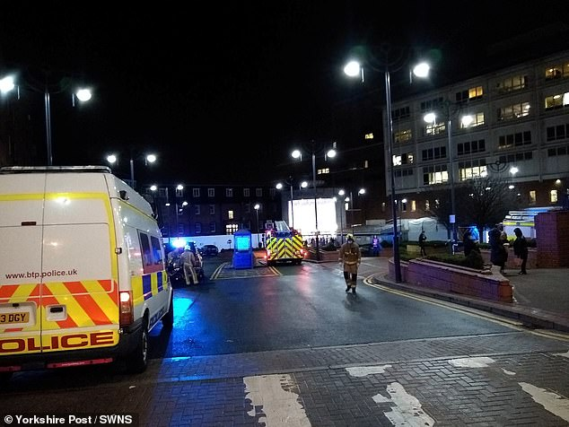 Police officers and fire crews rushed to Leeds General Infirmary on Thursday evening as patients and staff were ordered to leave