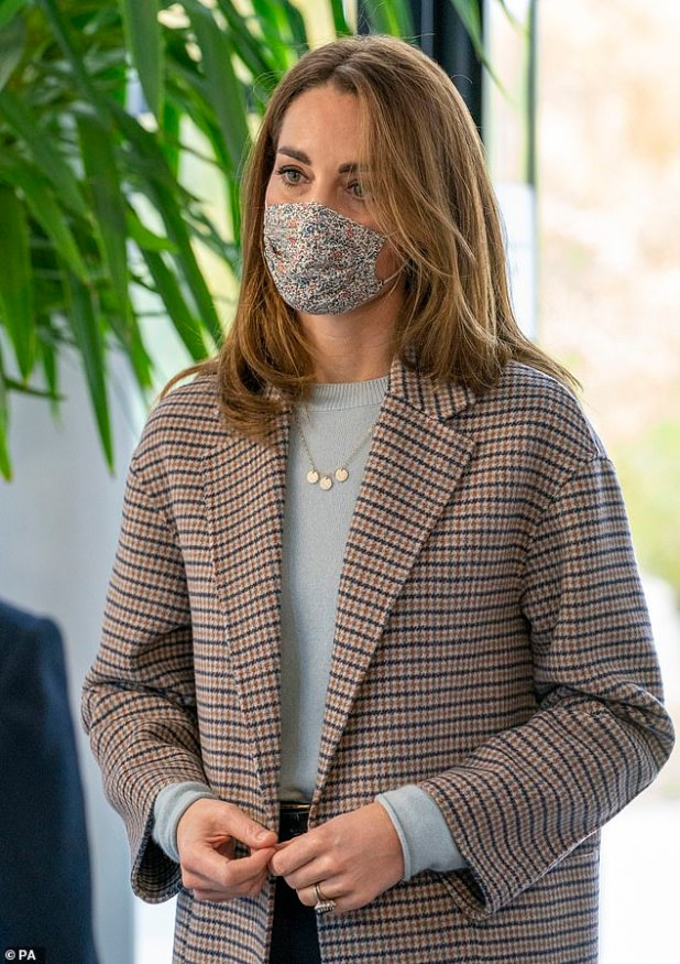 Shorter Style: The Duchess of Cambridge had a chopper, shorter style in October when she visited students at the University of Derby.  A stylist said Kate 'is setting an example'