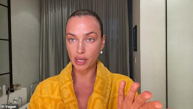 Real for the camera: She recently posed without makeup for a Vogue video and then put on makeup