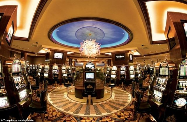 The interior of the 60,000 square foot casino is pictured before it was shut down