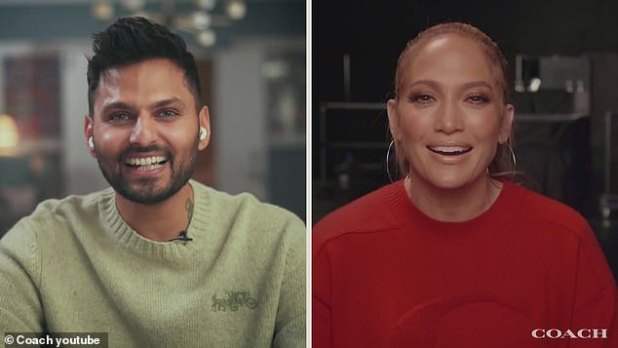 Chatting: Multi-hyphenated entertainer sat down for a virtual chat with writer and podcast host Jay Shetty (left), to talk about the idea of purpose