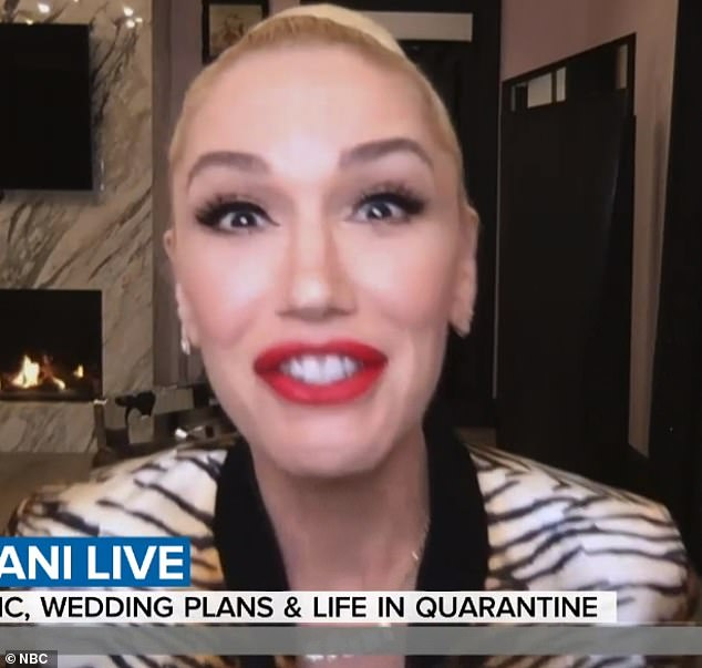 Look fabulous: Her theft comes in the middle of her engagement to Gwen Stefani who was seen in Los Angeles wearing her massive ring just two days before;  pictured today January 14