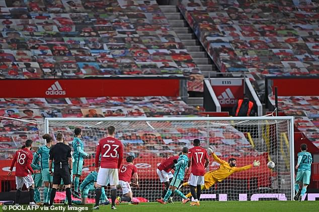 Fernandes perfectly placed a free-kick out of reach from Liverpool goalkeeper Alisson