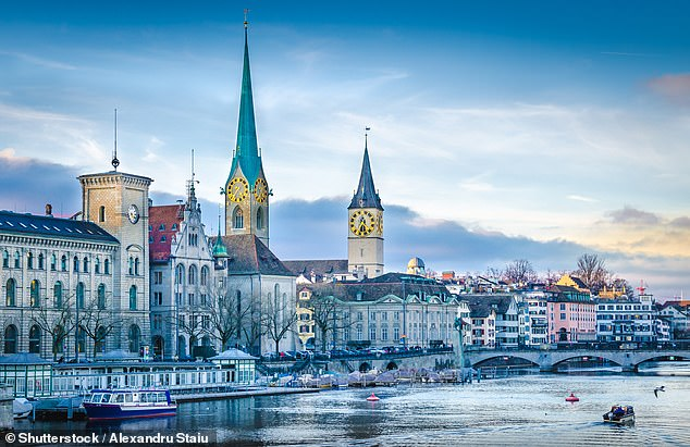 Zurich has replaced Paris to emerge as the favourite city of the ultra rich, according to a new property ranking table (file photo)