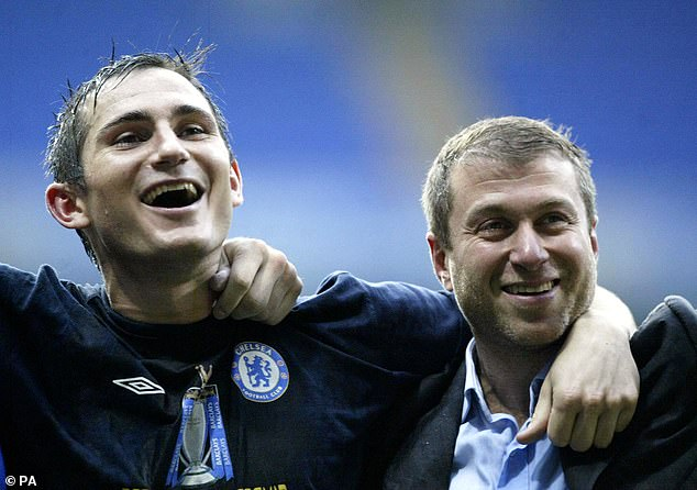 Chelsea owner Abramovich (right) admitted it was difficult to release Lampard from his role