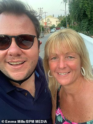Terry's cousin Emma Mills (pictured together) said that the family were heartbroken when Terry was admitted to hospital