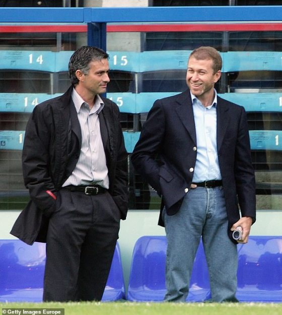 Chelsea boss Jose Mourinho (left) was sacked less than three months after the failed move