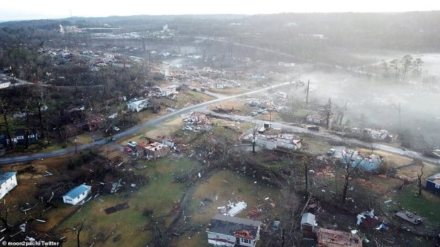 The tornado ripped through Fultondale, carving a path of destruction north of Birmingham
