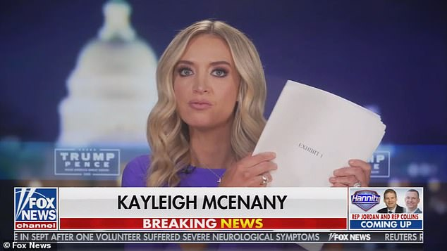 KayleighMcEnany was a frequent face on Fox News during her White House tenure - particularly at the end of her time when she aggressively pushed his election fraud claims