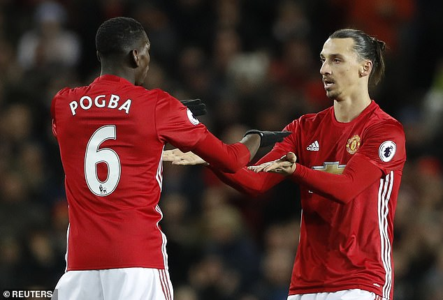 Pogba and Ibrahimovic enjoyed a good relationship in their 18 months together at United