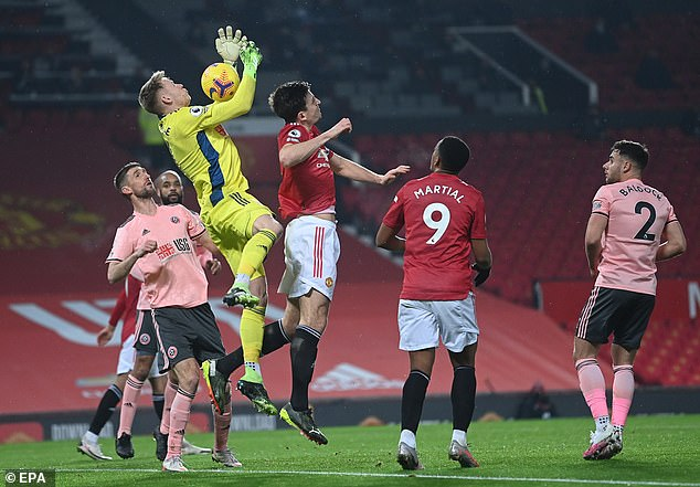 Harry Maguire was furious after Manchester United had an equaliser ruled out after his challenge on Sheffield United goalkeeper Aaron Ramsdale