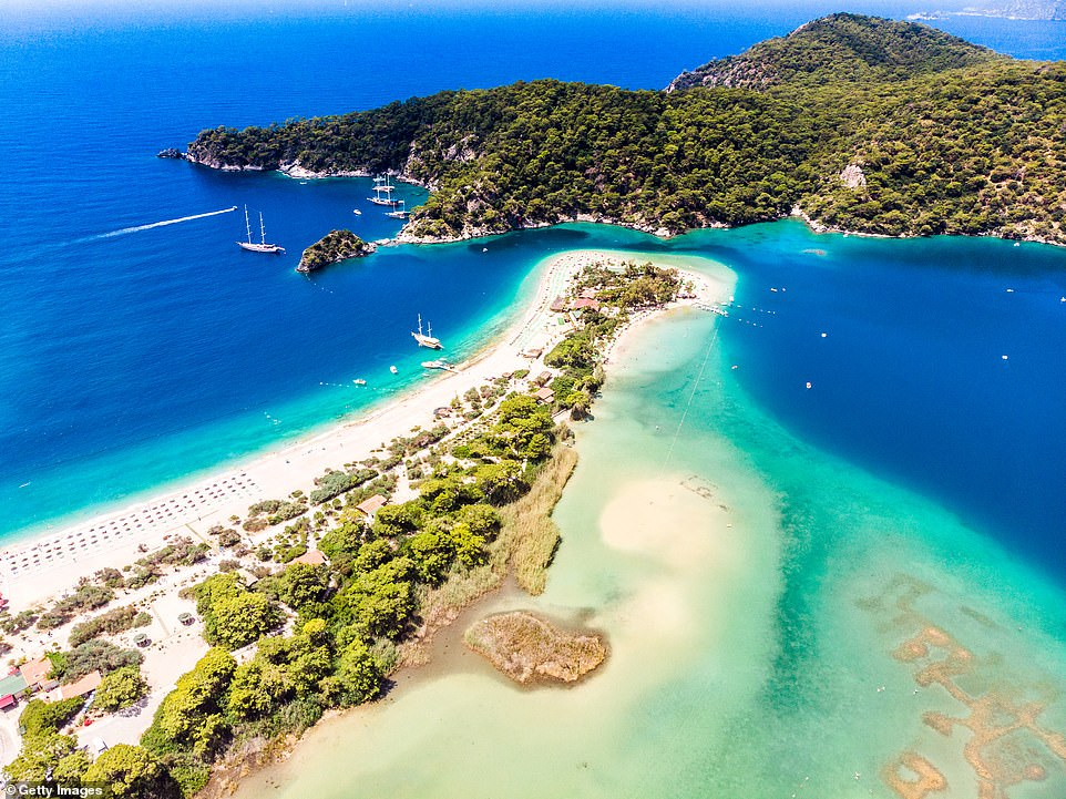 The mesmerising Blue Lagoon in Oludeniz, Turkey. The country's hoteliers federation has said a target has been set to welcome '25 to 30 million visitors in 2021'