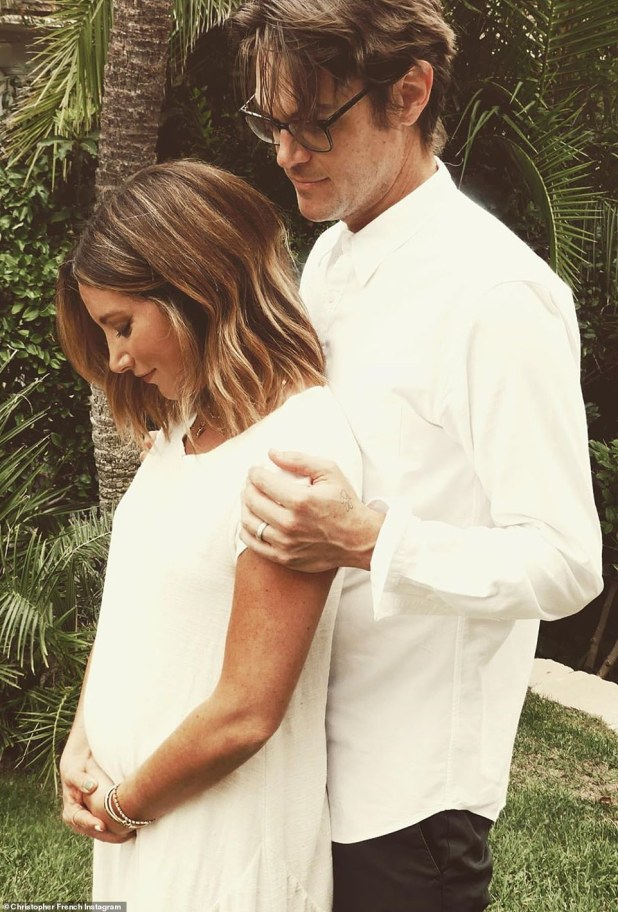 New addition: It comes after her and husband Christopher French, 38, whom she married in September of 2014, announced their first pregnancy on Instagram in September last year, later revealing that they were expecting a girl Have been
