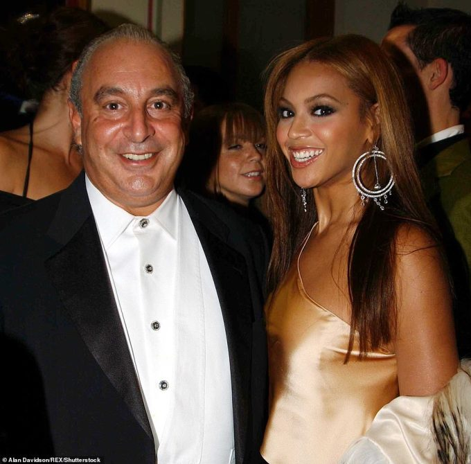 Sir Philip and Beyonce Knowles at Fashion Rocks in aid of the Princes Trust at the Royal Albert Hall in London in October 2003