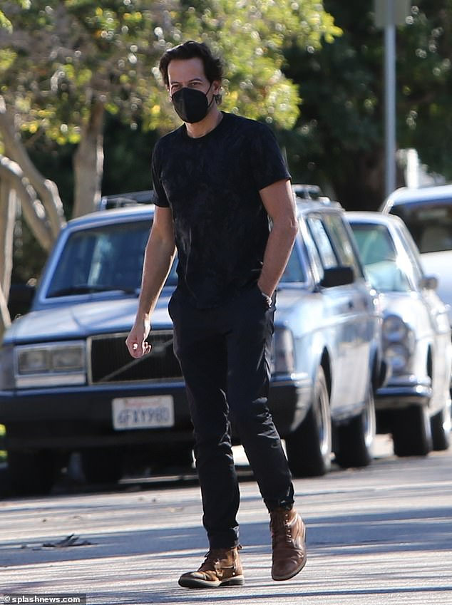 Solo outing: The Welsh actor, 47, was spotted out and about solo in Los Angeles on Saturday