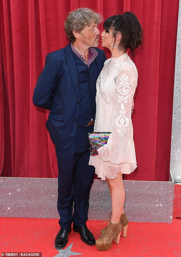 Mum and dad:The soap star couple, who have been engaged since June 2018, took to shared the happy news to Instagram