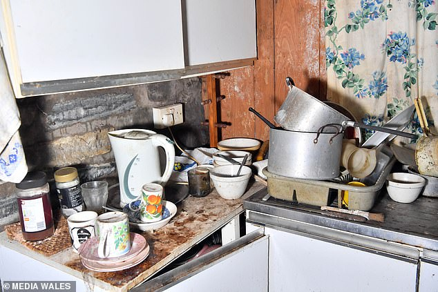 Auctioneers say any buyer willbasically be starting from scratch and almost rebuilding the entire property (pictured: the kitchen)