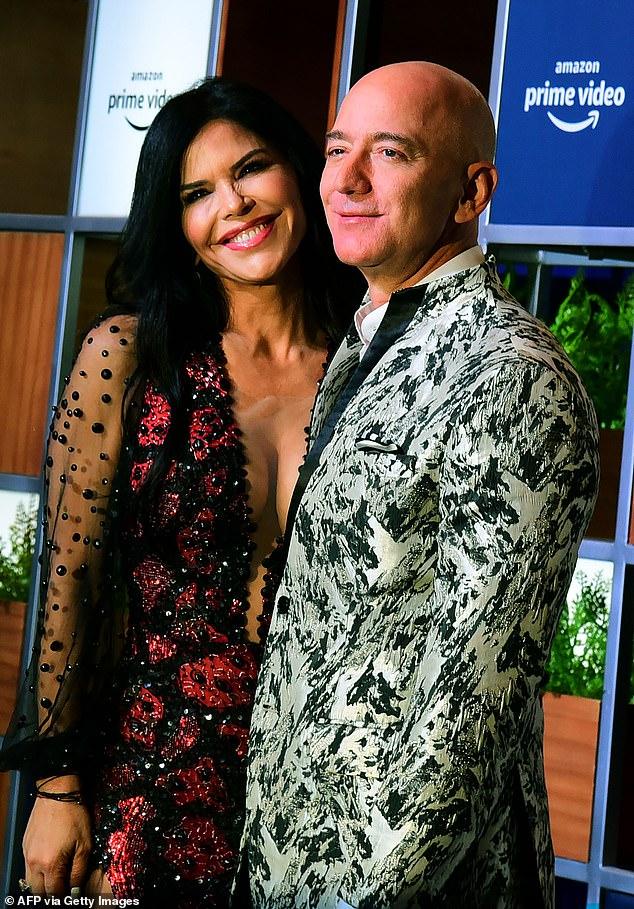 Amazon founder Jeff Bezos (pictured with his girlfriend Lauren Sanchez) announced on Tuesday he was stepping down as CEO of the company later this year