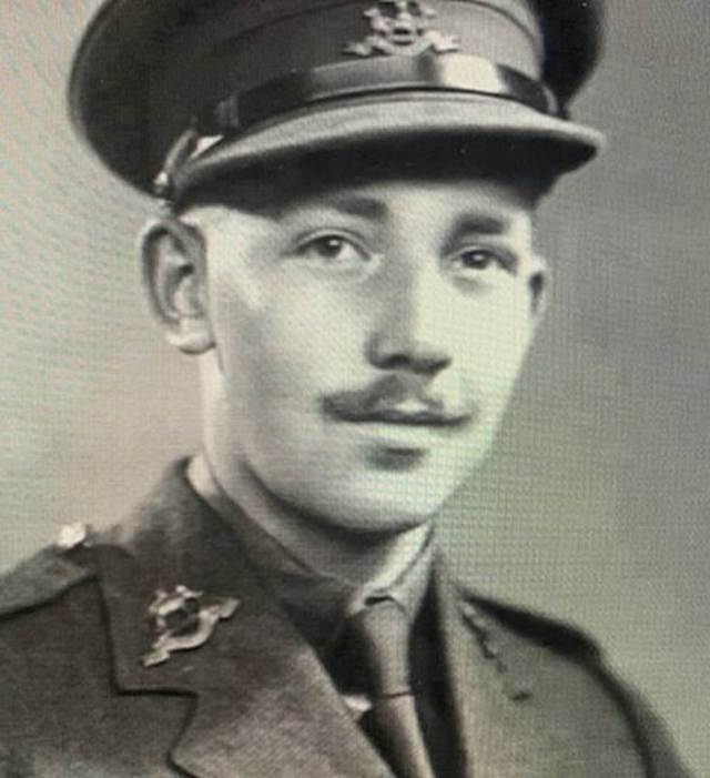 Colonel Tom pictured during the Second World War.With a reputation as a handy man with engines, in India he was put in charge of training men for tank warfare on the Japanese