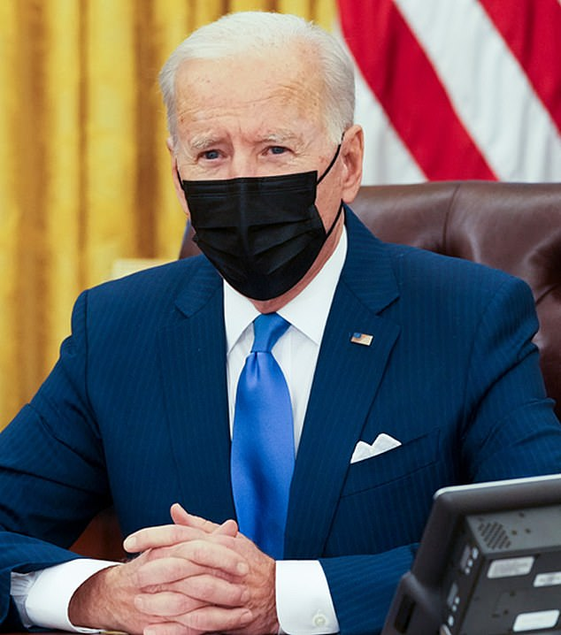 Joe Biden paid tribute on Tuesday evening. 'My heart aches for the families,' he said in a press briefing on Tuesday evening