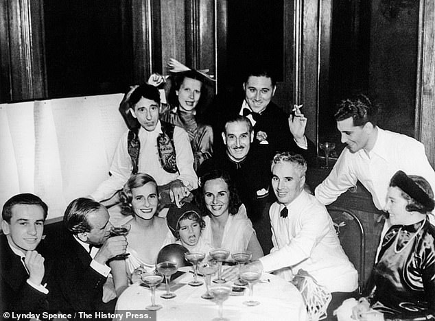 After separating from Castlerosse, Doris, centre left, continued her party lifestyle and travelled to Singapore