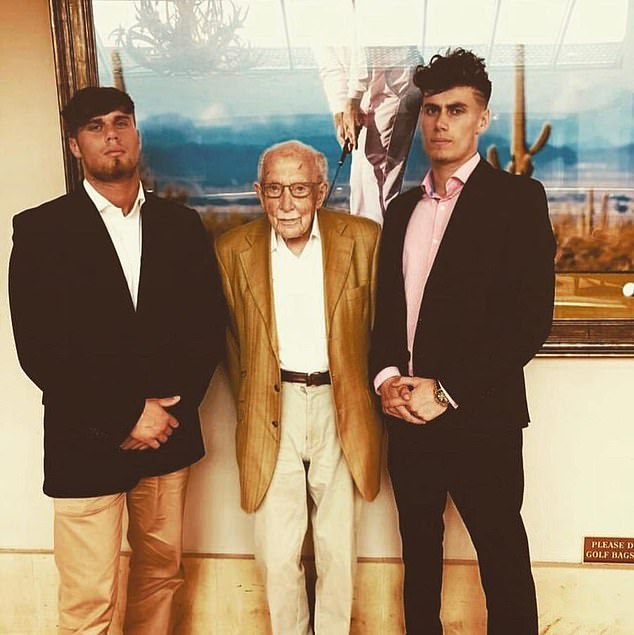 Tom Teixeira (pictured left with grandfather Captain Tom and brother Max) has spoken of the 'lovely memories' of bike rides he shared with his grandfather