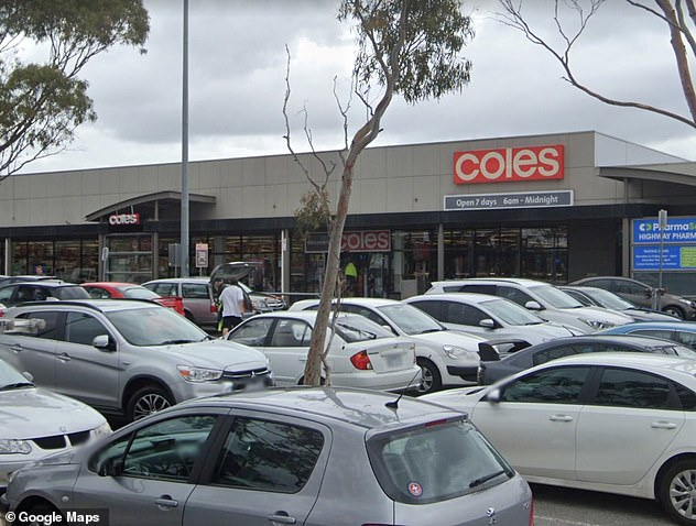 The Coles supermarket at Springvale (pictured) has been listed as an exposure site for the time between 5pm to 6pm on January 31