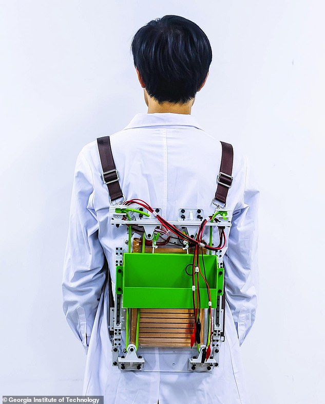 A prototype backpack has been built which reduces the strain on the wearer by 21 per cent. The smart piece of equipment is made with two elastic materials reduce vertical movement and uses this to create electricity