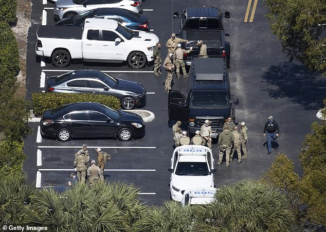 The shooting unfolded around 6am on Tuesday in the middle-class neighborhood of single family homes, duplexes and apartment buildings. A heavy law enforcement presence was spotted in the area in the hours after the shooting
