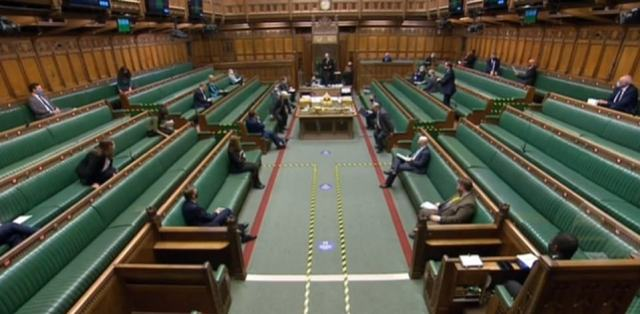 The confrontation happened moments after this shot of PMQs ending, but was not caught on camera as the sitting had been suspended