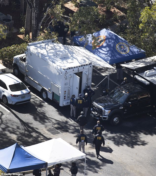 He is believed to have killed himself after barricading himself in the apartment. The FBI said they are not releasing the suspect's identity until his relatives are informed