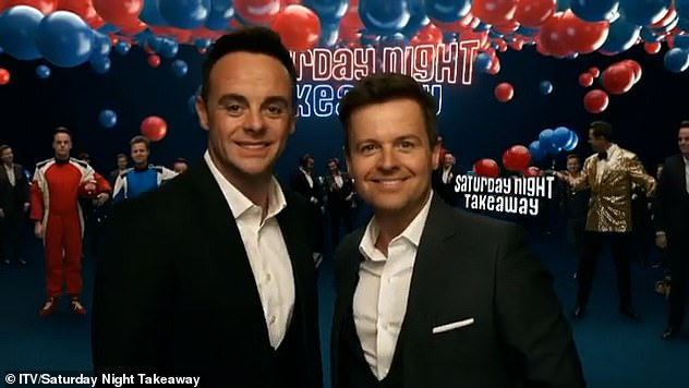 Back on TV: Their show Saturday Night Takeaway returned on Saturday